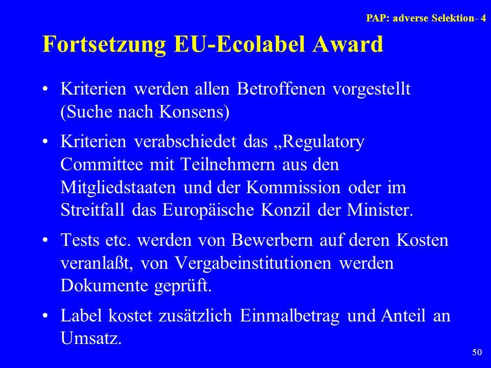 Fortsetzung EU-Ecolabel Award