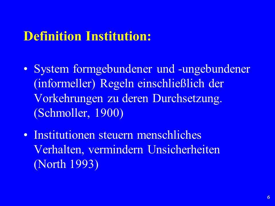 Definition Institution: