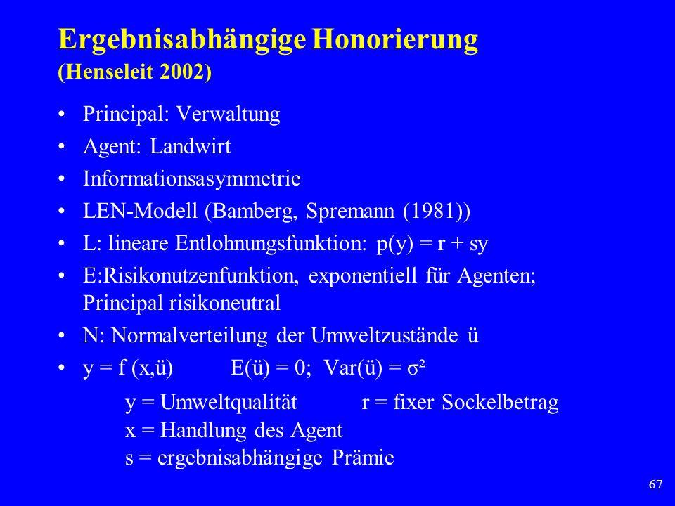 Ergebnisabhängige Honorierung (Henseleit 2002)