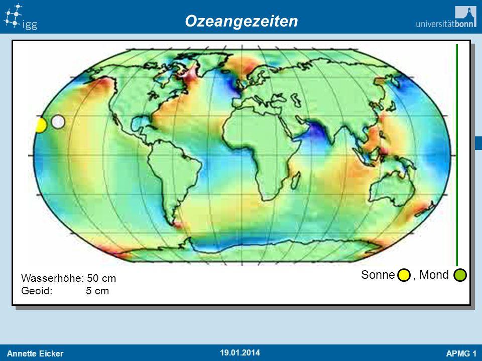 Ozeangezeiten Sonne , Mond Wasserhöhe: 50 cm Geoid: 5 cm 27.03.2017