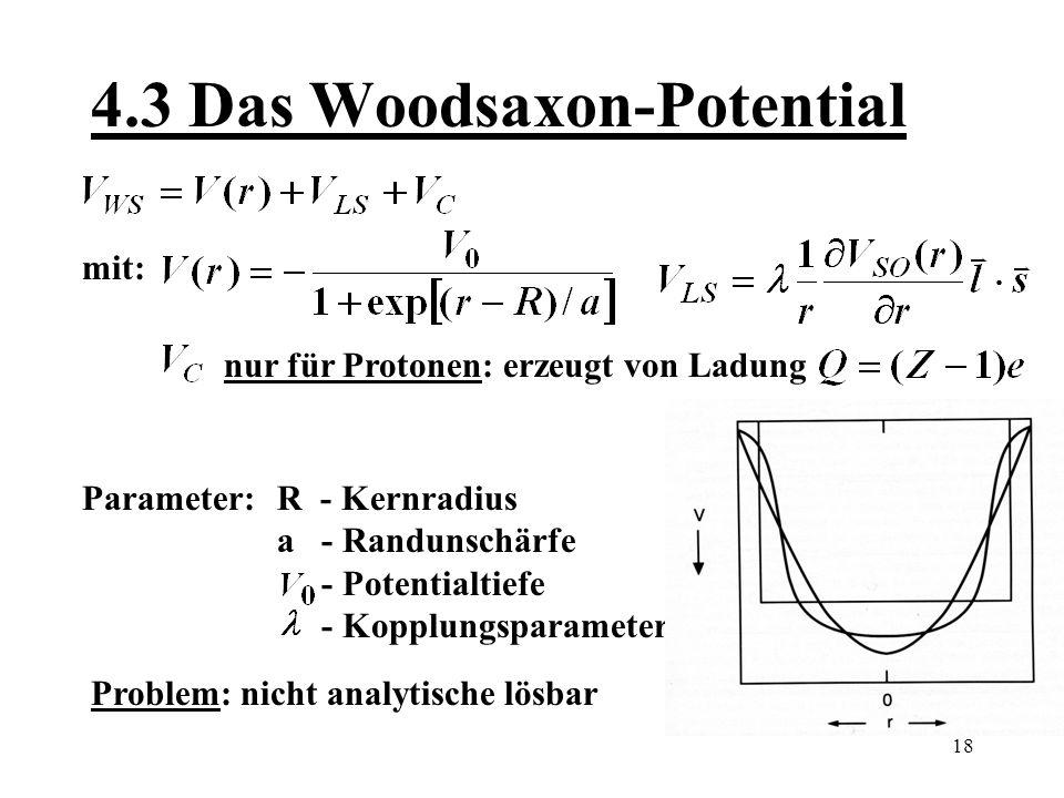 4.3 Das Woodsaxon-Potential