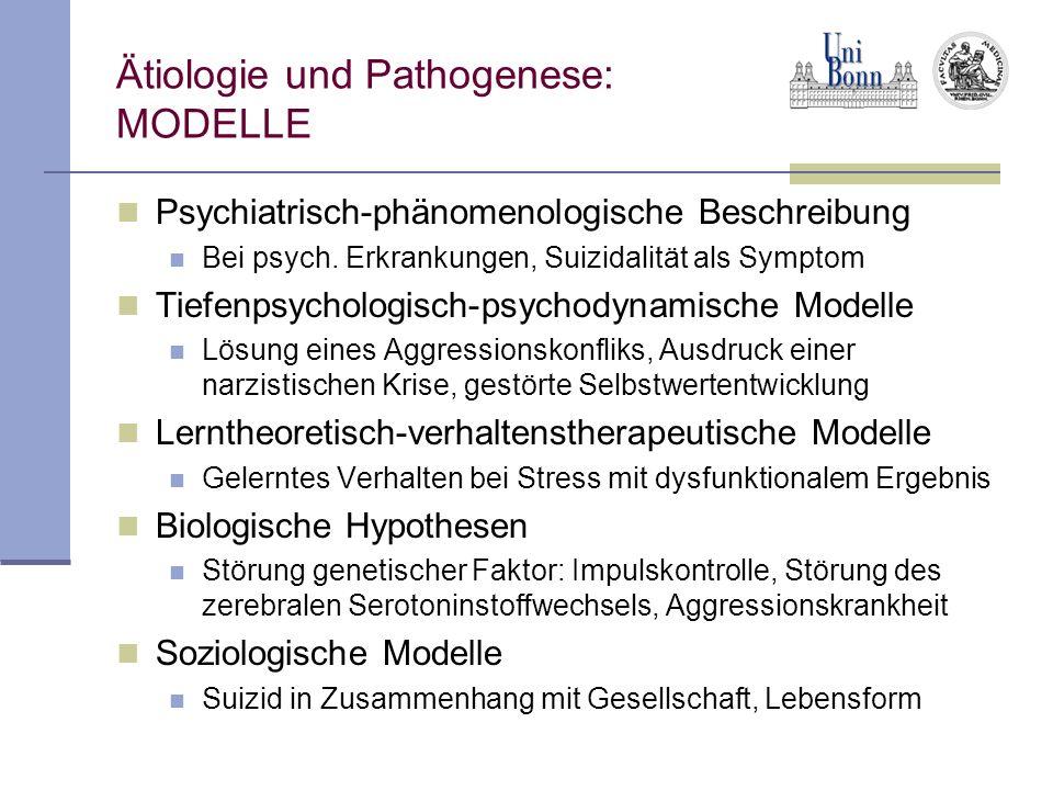 Ätiologie und Pathogenese: MODELLE