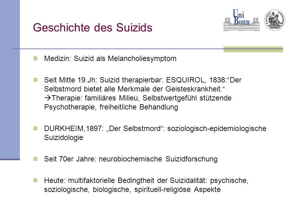 Geschichte des Suizids