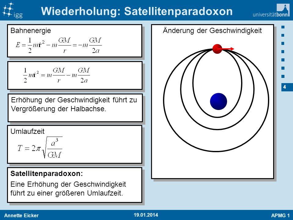 Wiederholung: Satellitenparadoxon
