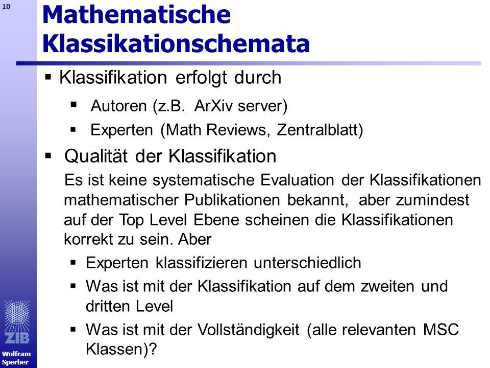 Mathematische Klassikationschemata