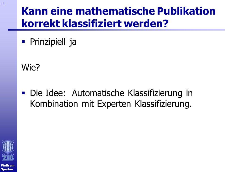 Kann eine mathematische Publikation korrekt klassifiziert werden
