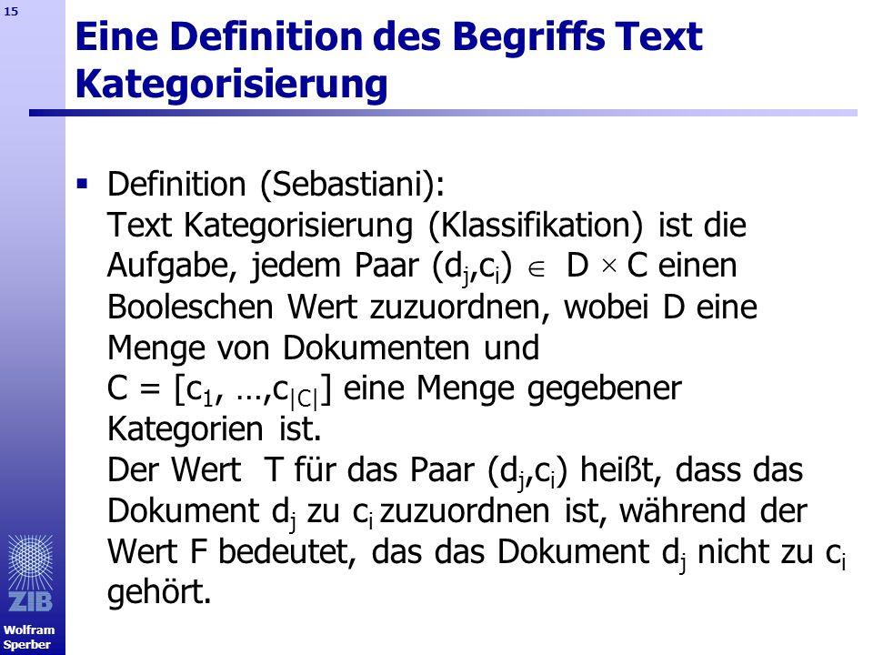 Eine Definition des Begriffs Text Kategorisierung
