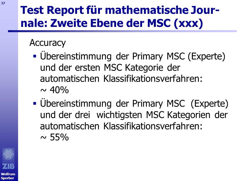Test Report für mathematische Jour-nale: Zweite Ebene der MSC (xxx)