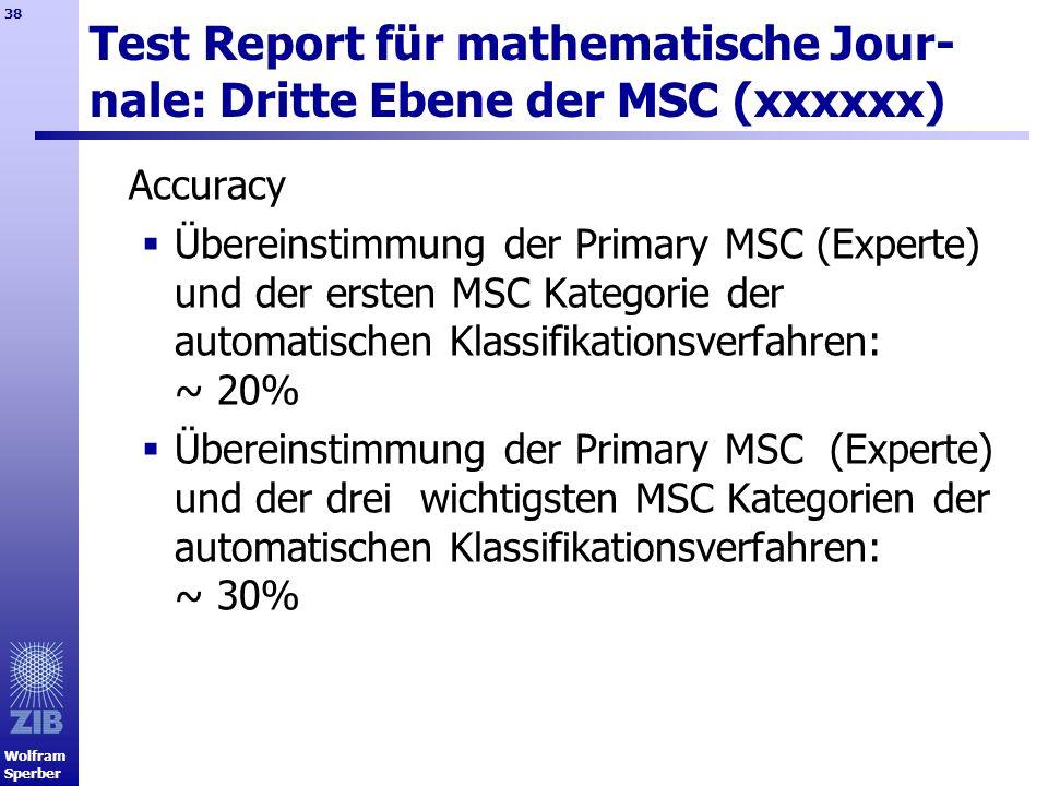 Test Report für mathematische Jour-nale: Dritte Ebene der MSC (xxxxxx)