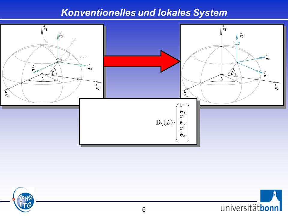 Konventionelles und lokales System