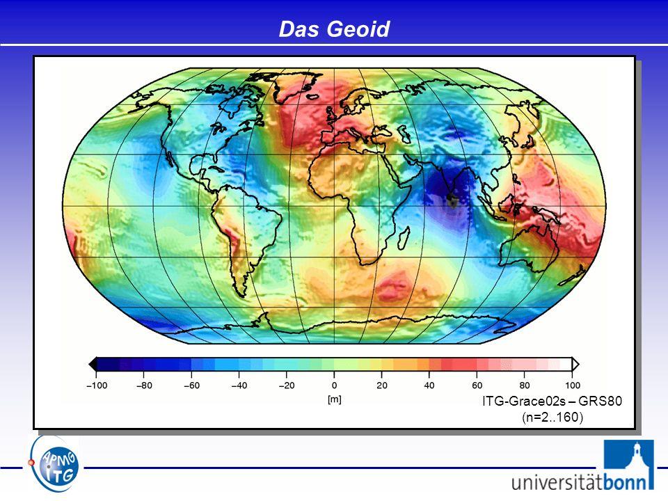 Das Geoid ITG-Grace02s – GRS80 (n=2..160)