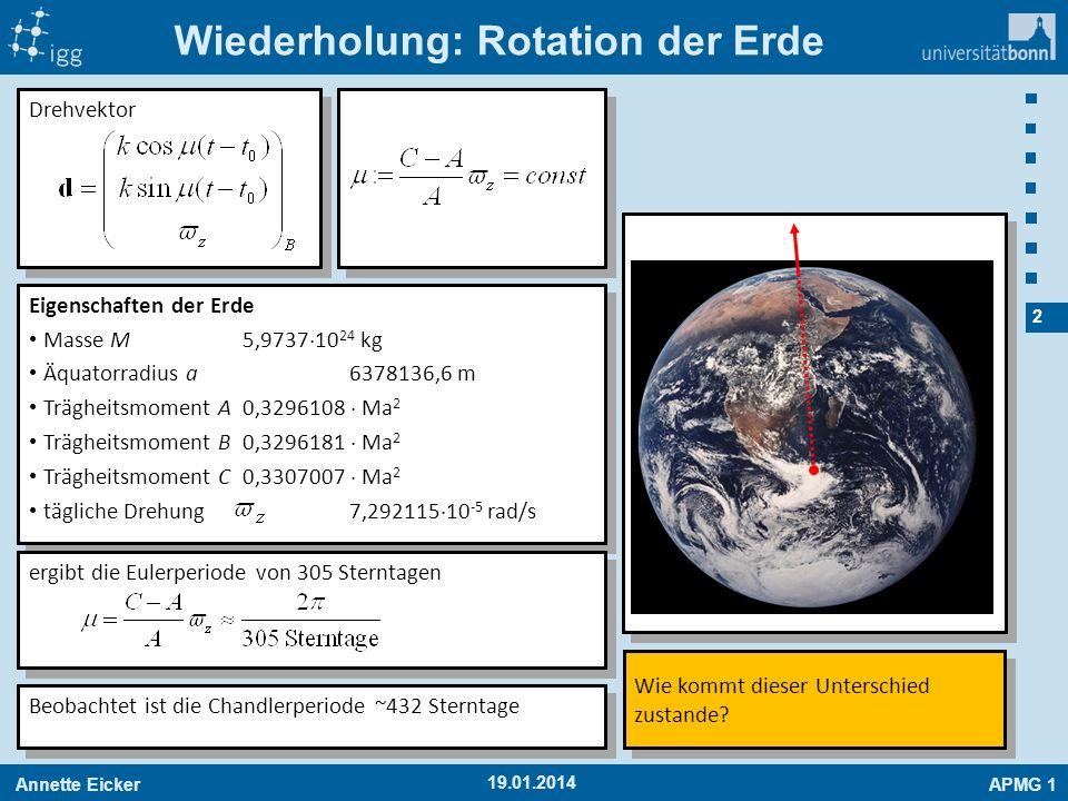 Wiederholung: Rotation der Erde