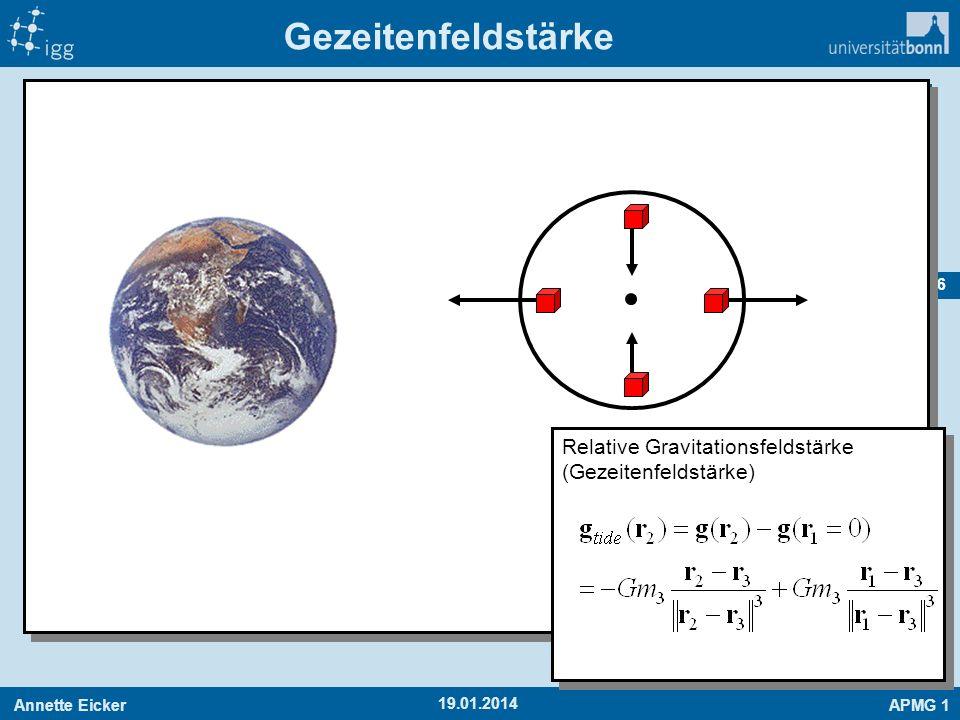 Gezeitenfeldstärke Relative Gravitationsfeldstärke (Gezeitenfeldstärke) 27.03.2017
