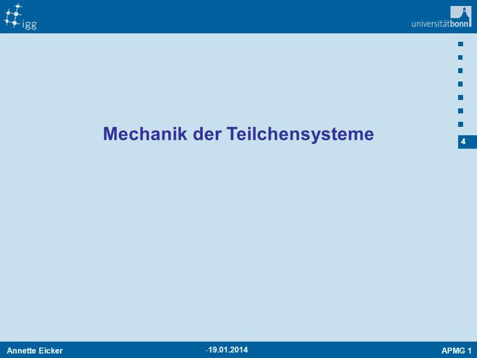 Mechanik der Teilchensysteme