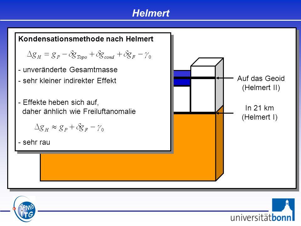 Auf das Geoid (Helmert II)