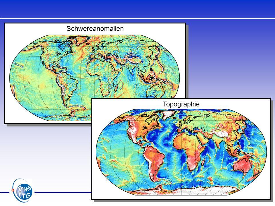 Schwereanomalien Topographie