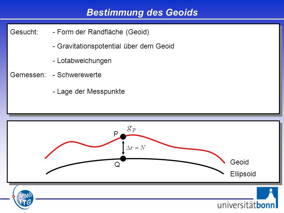 Bestimmung des Geoids Gesucht: - Form der Randfläche (Geoid)