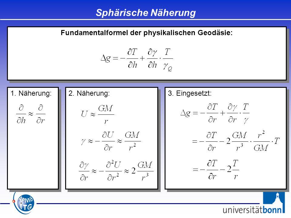 Fundamentalformel der physikalischen Geodäsie:
