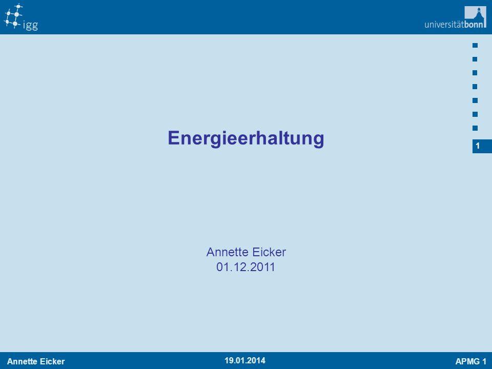 Energieerhaltung Annette Eicker 01.12.2011 27.03.2017