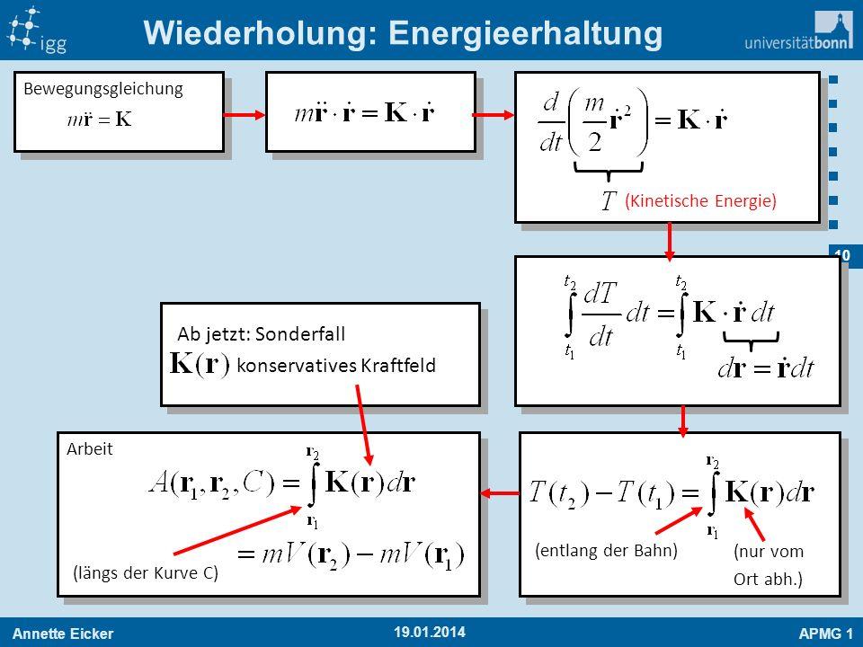Wiederholung: Energieerhaltung