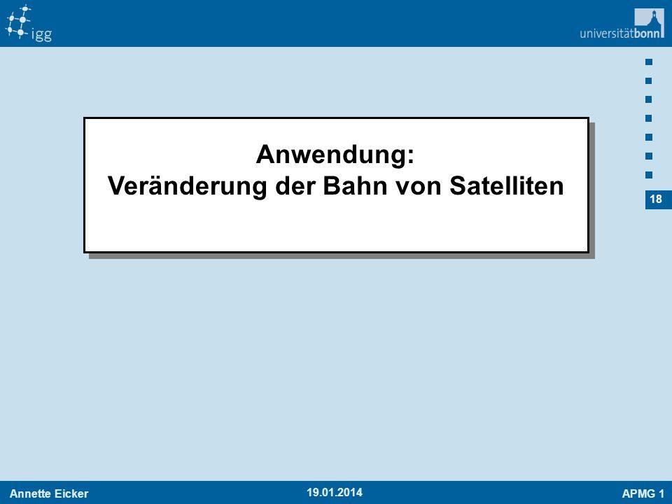 Veränderung der Bahn von Satelliten