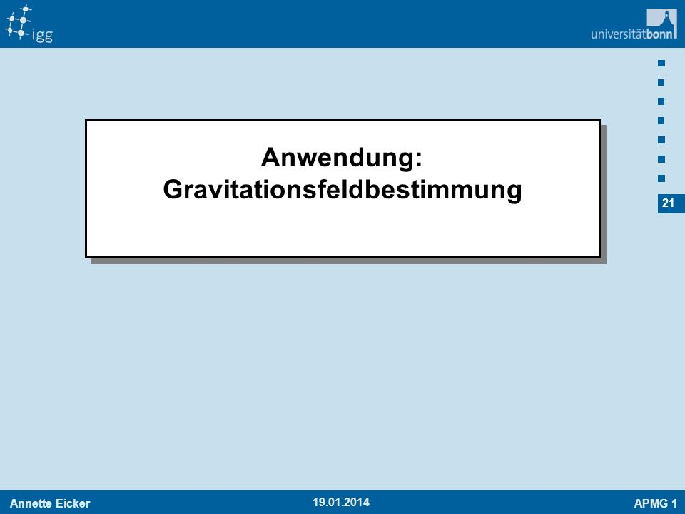Gravitationsfeldbestimmung
