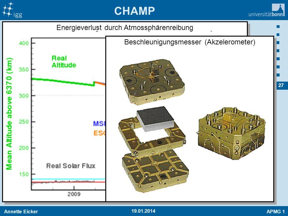 CHAMP Energieverlust durch Atmossphärenreibung