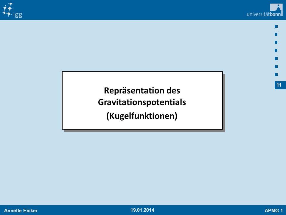 Repräsentation des Gravitationspotentials