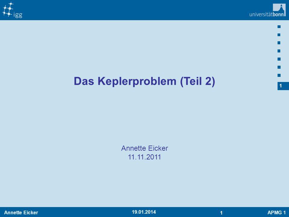 Das Keplerproblem (Teil 2)