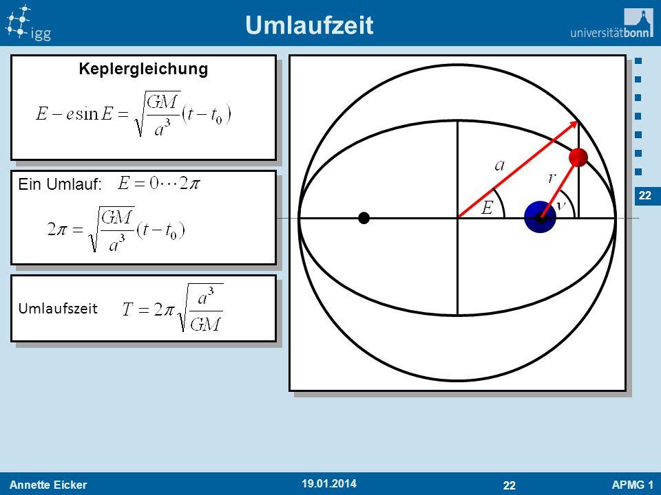 Umlaufzeit Keplergleichung Ein Umlauf: Umlaufszeit 27.03.2017