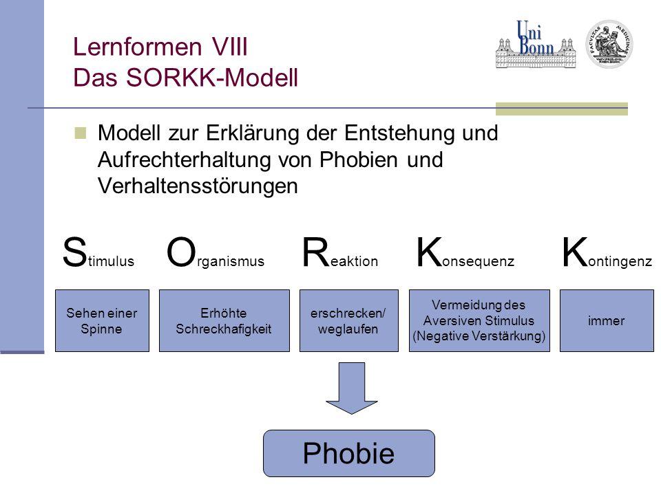 Lernformen VIII Das SORKK-Modell