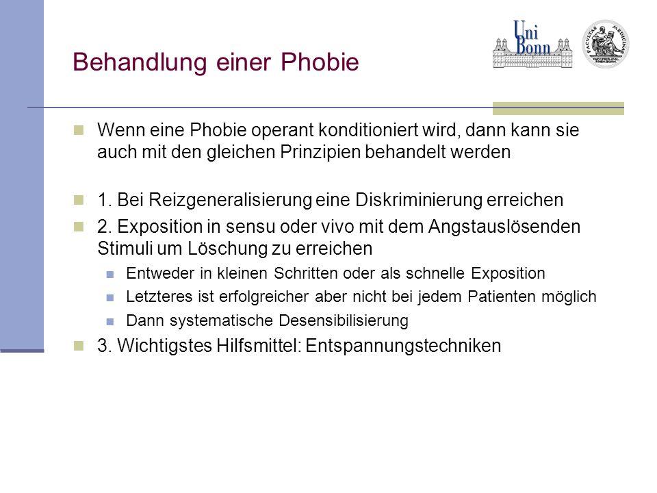 Behandlung einer Phobie