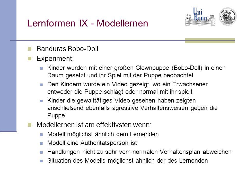 Lernformen IX - Modellernen