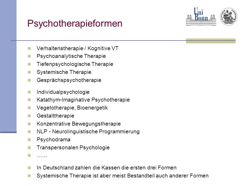 Psychotherapieformen