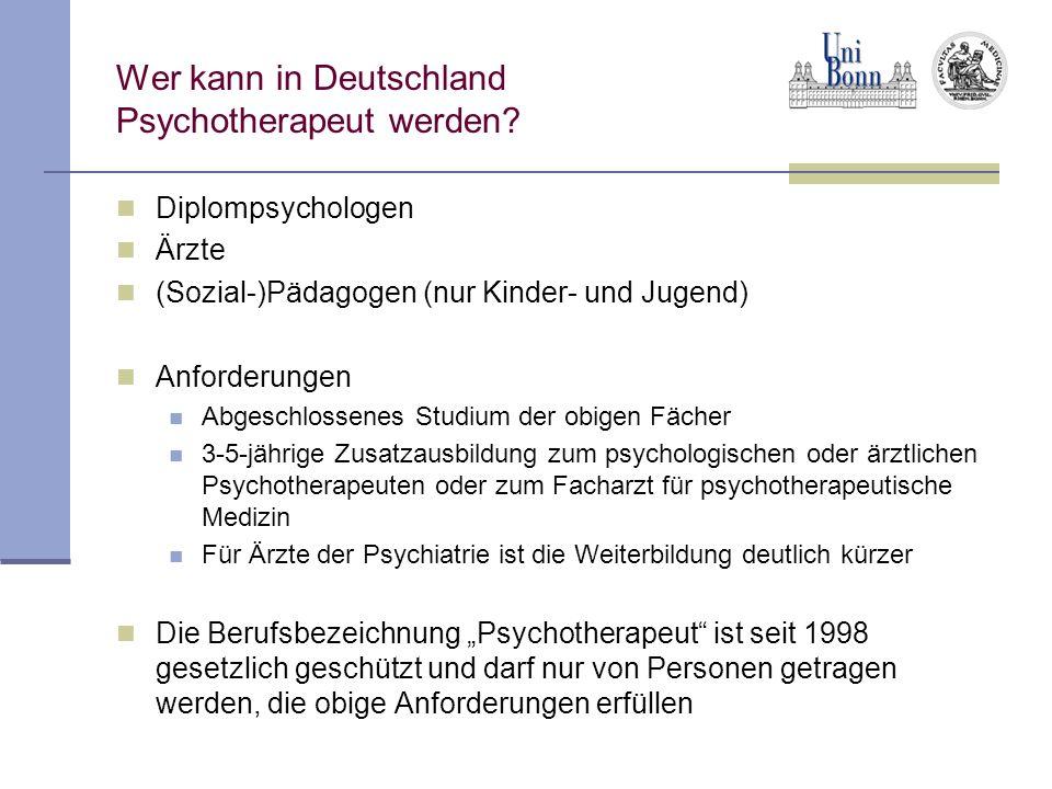 Wer kann in Deutschland Psychotherapeut werden