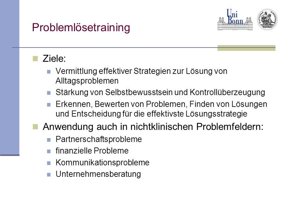 Problemlösetraining Ziele: