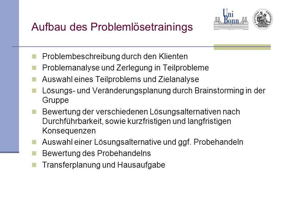 Aufbau des Problemlösetrainings