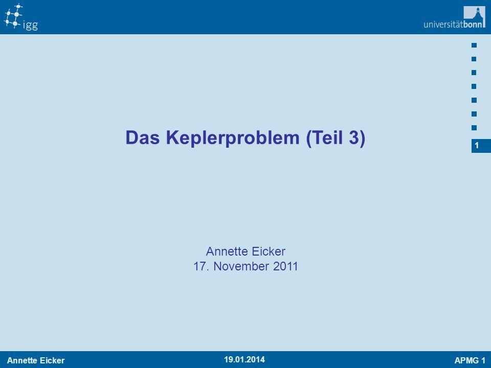 Das Keplerproblem (Teil 3)