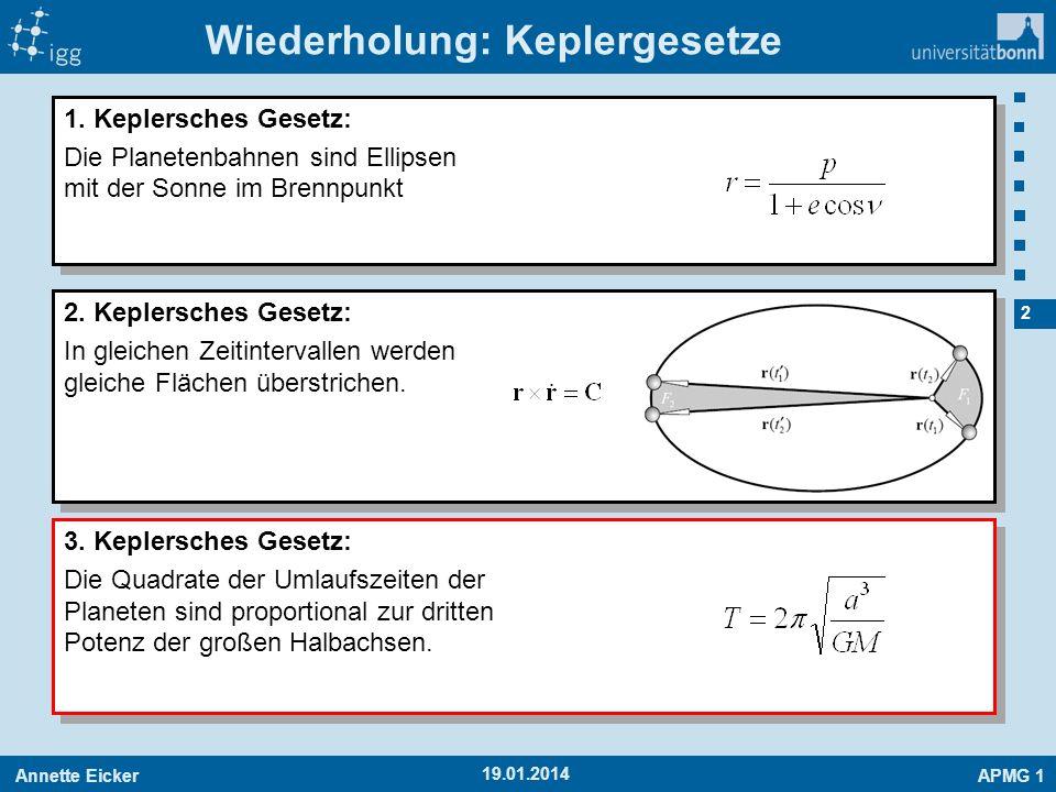Wiederholung: Keplergesetze