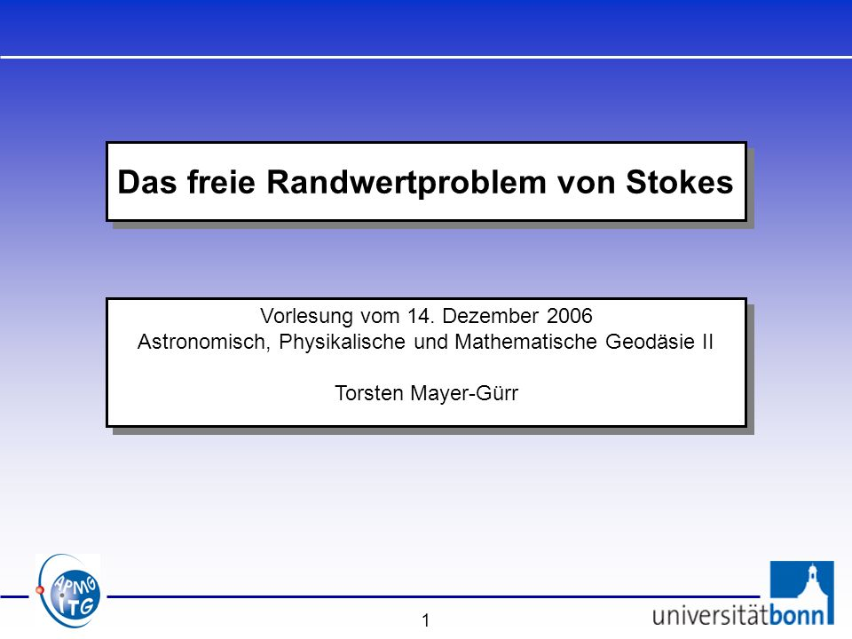 Das freie Randwertproblem von Stokes