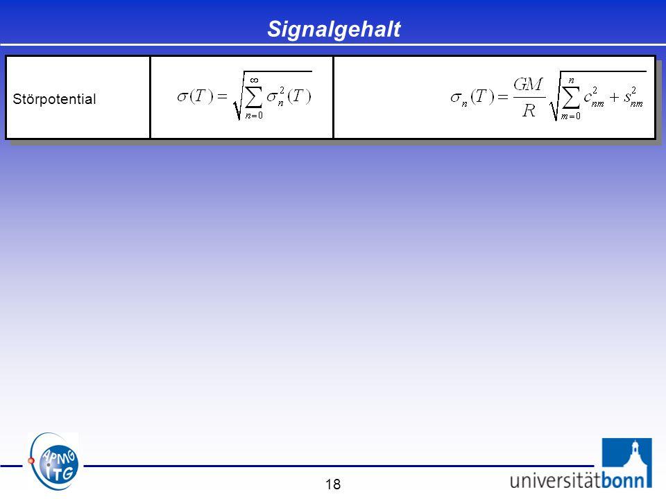 Signalgehalt Störpotential
