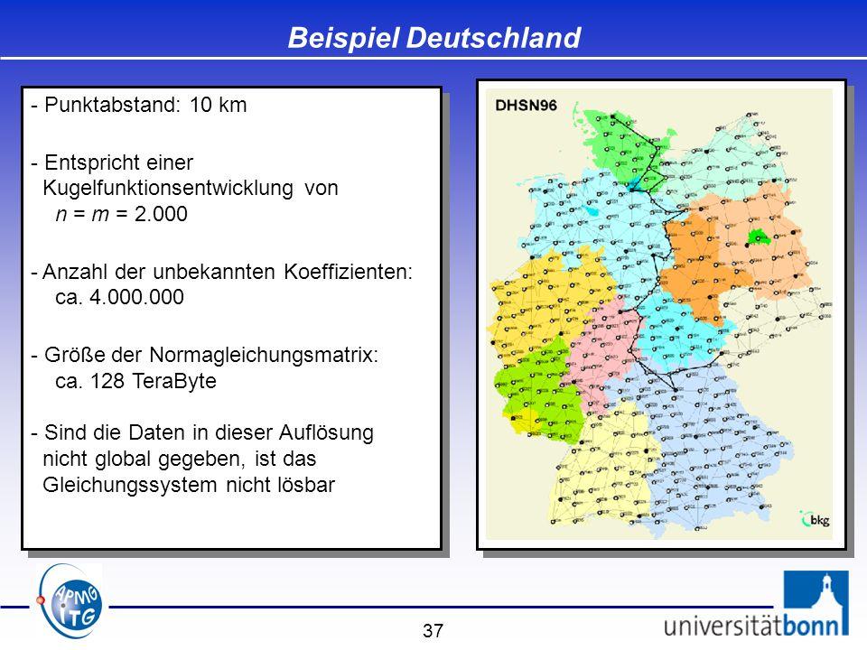Beispiel Deutschland Punktabstand: 10 km