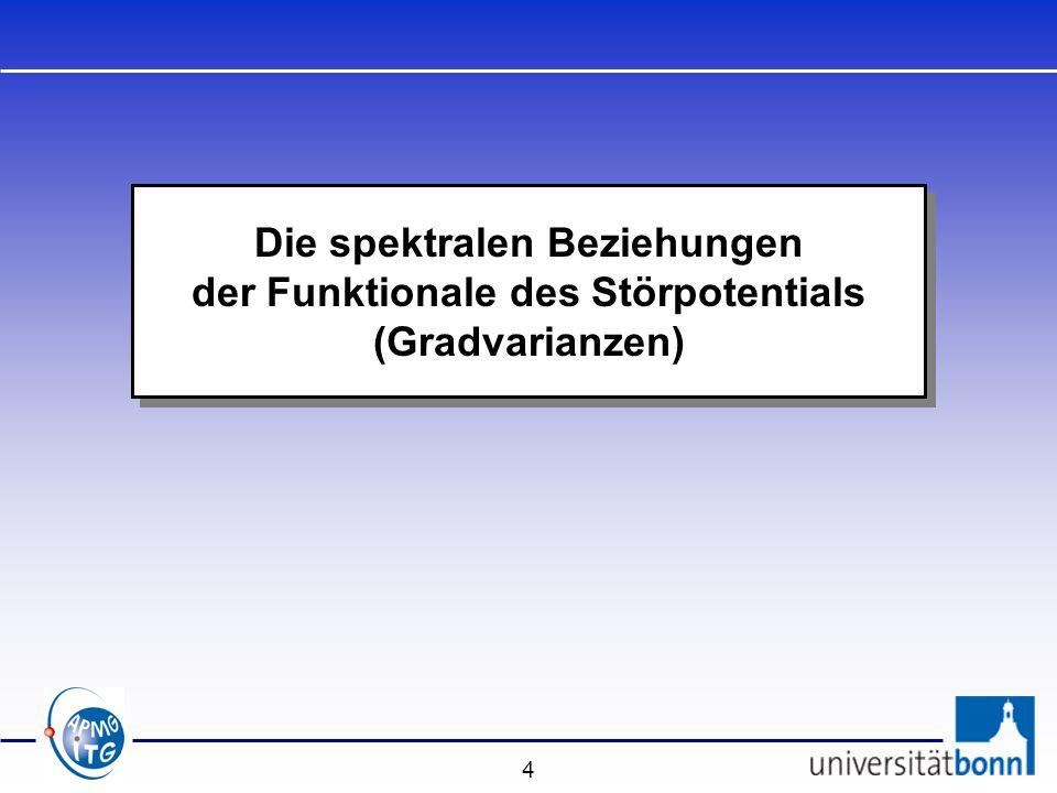 Die spektralen Beziehungen der Funktionale des Störpotentials (Gradvarianzen)