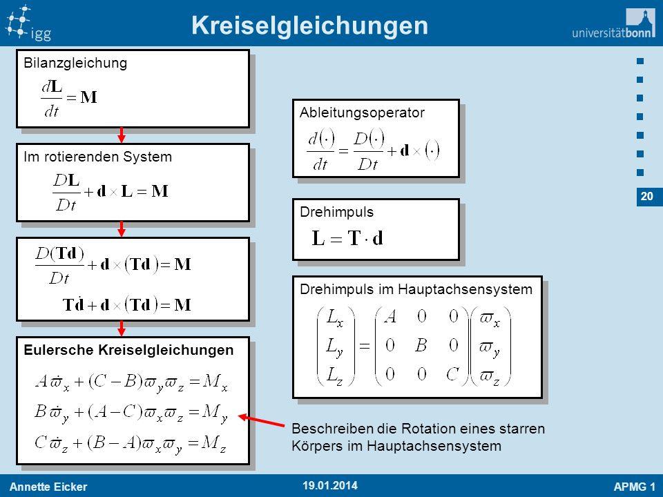 Kreiselgleichungen Bilanzgleichung Ableitungsoperator