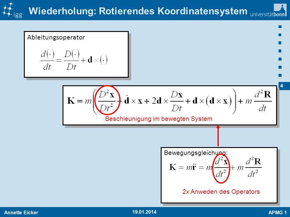 Wiederholung: Rotierendes Koordinatensystem