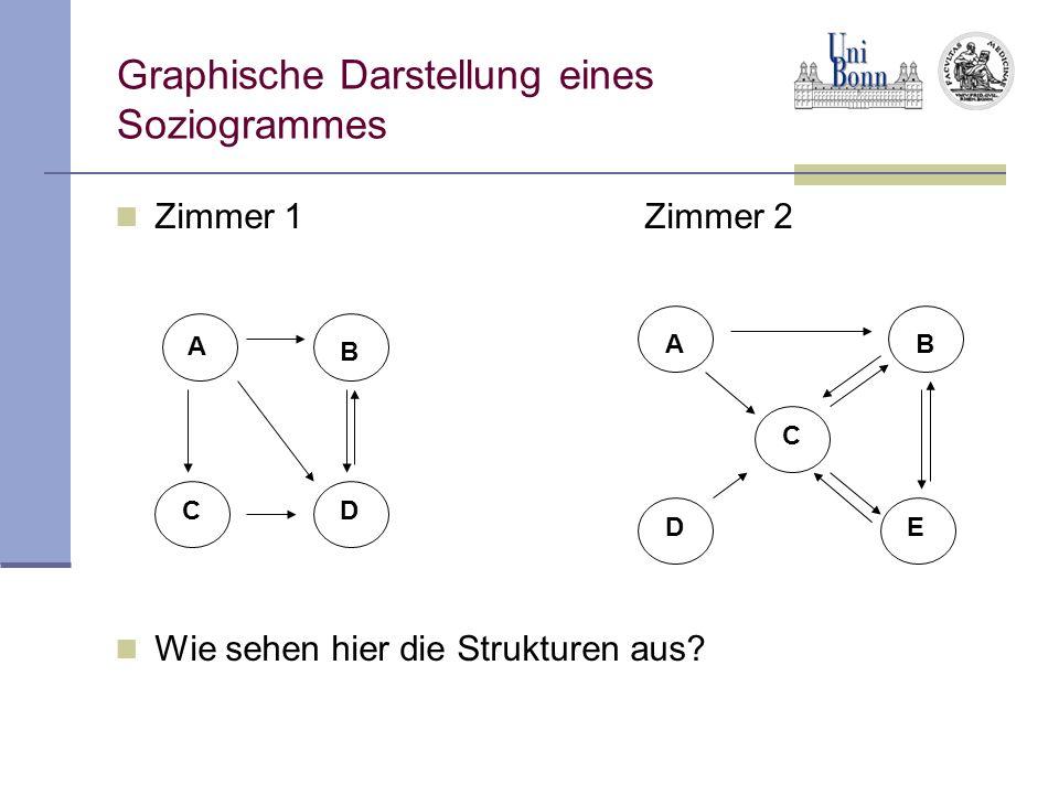 Graphische Darstellung eines Soziogrammes