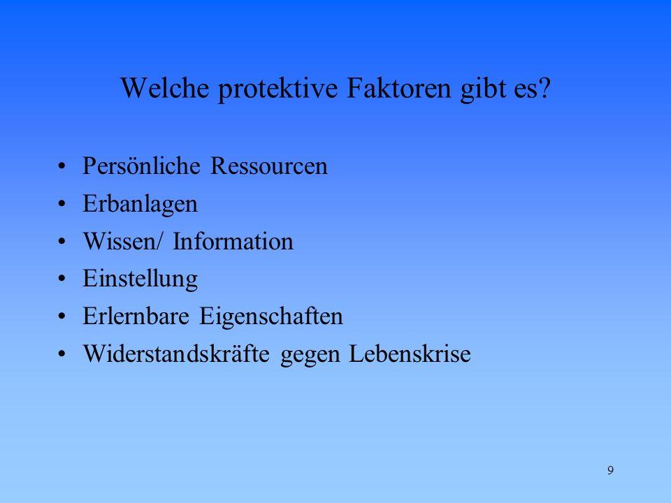Welche protektive Faktoren gibt es