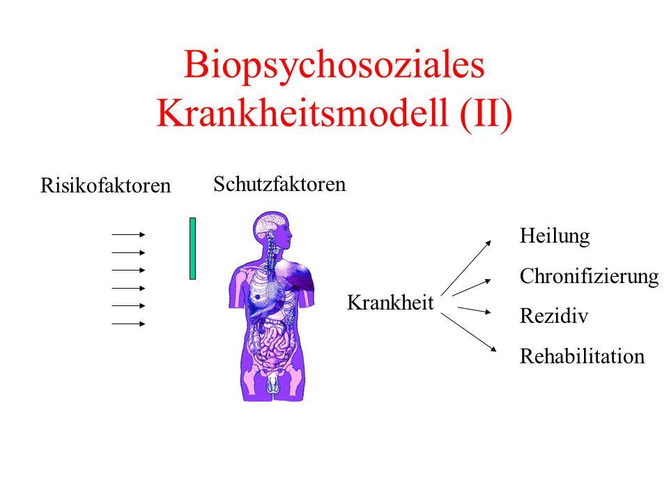 Biopsychosoziales Krankheitsmodell (II)