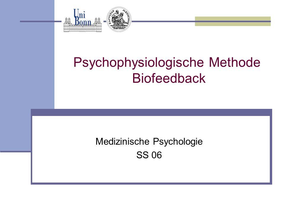 Psychophysiologische Methode Biofeedback