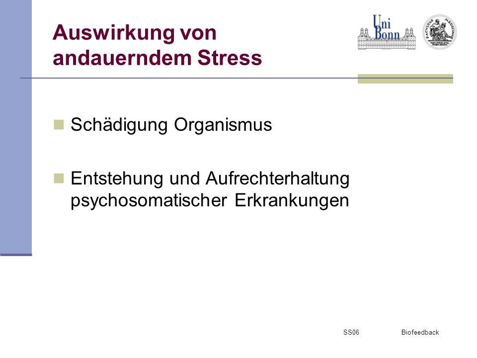 Auswirkung von andauerndem Stress